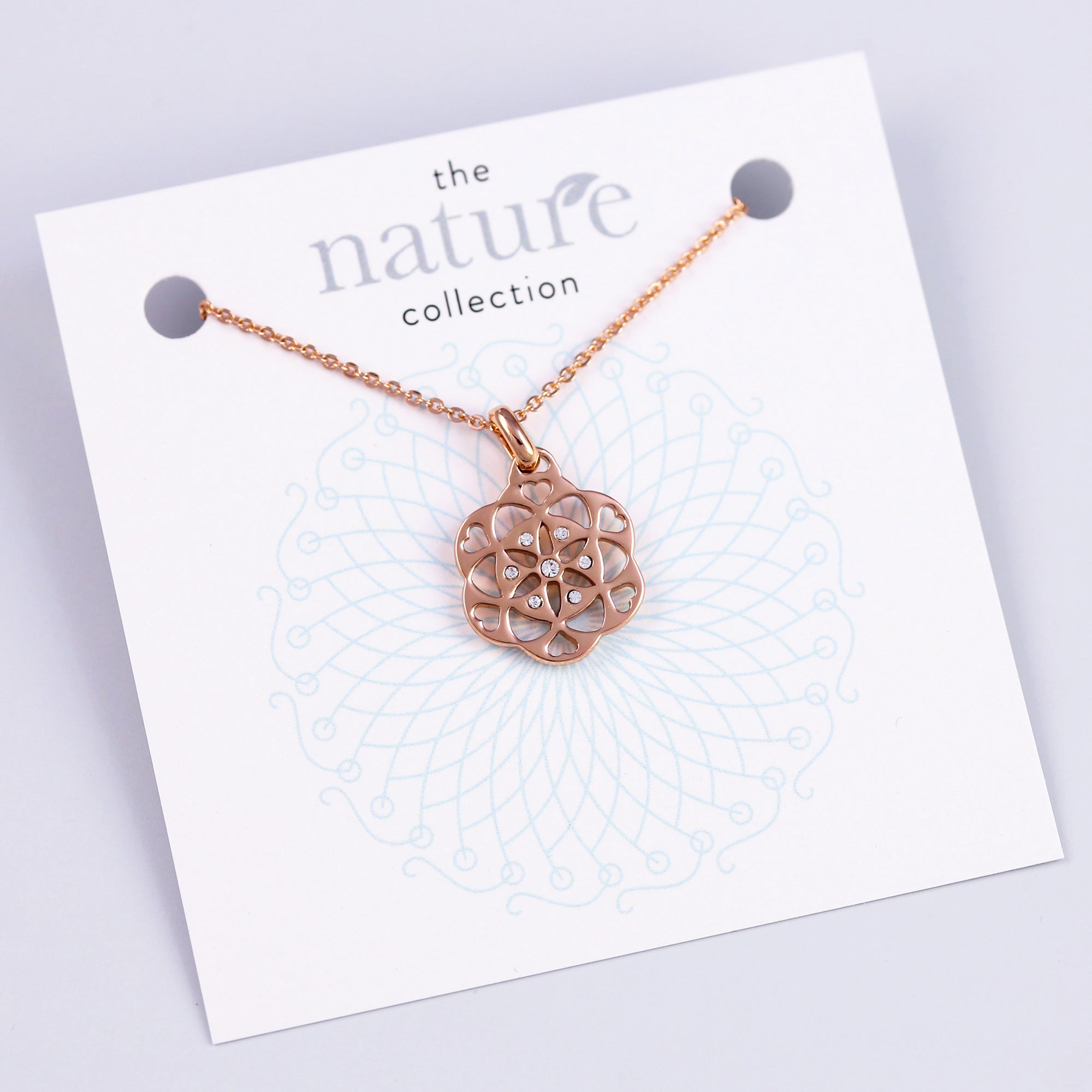 Rose Gold Seed of Life Necklace Nature Collection