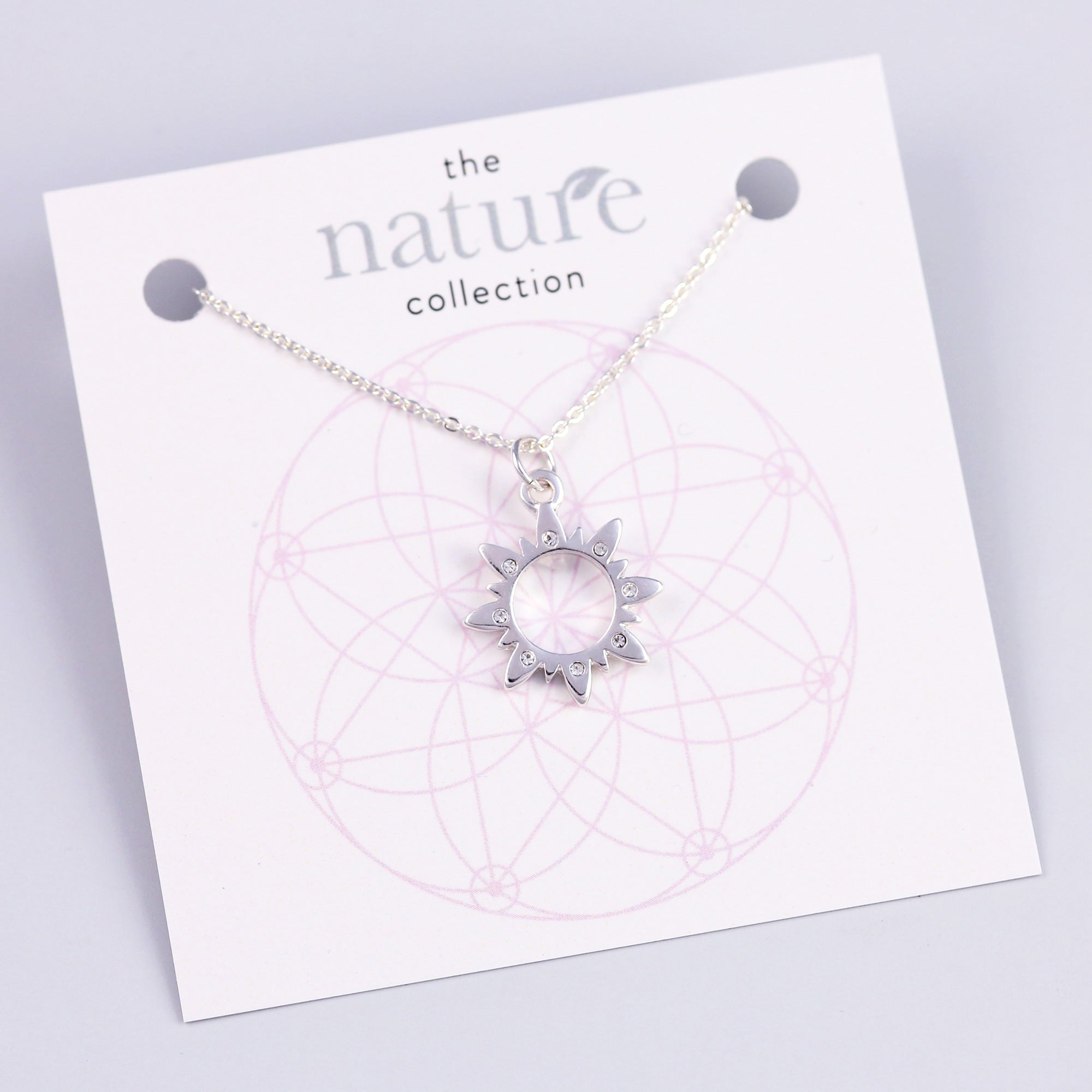 Silver Sun Necklace Nature Collection