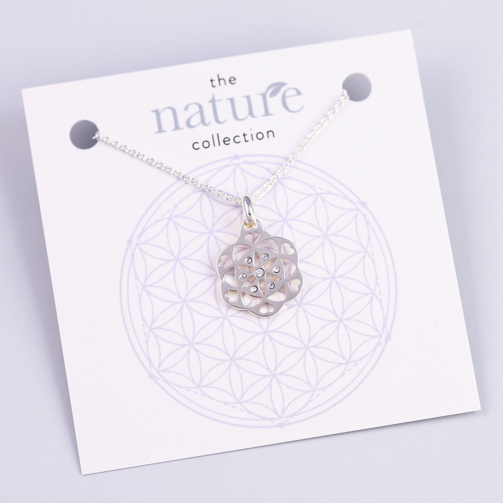 Silver Seed of Life Necklace Nature Collection