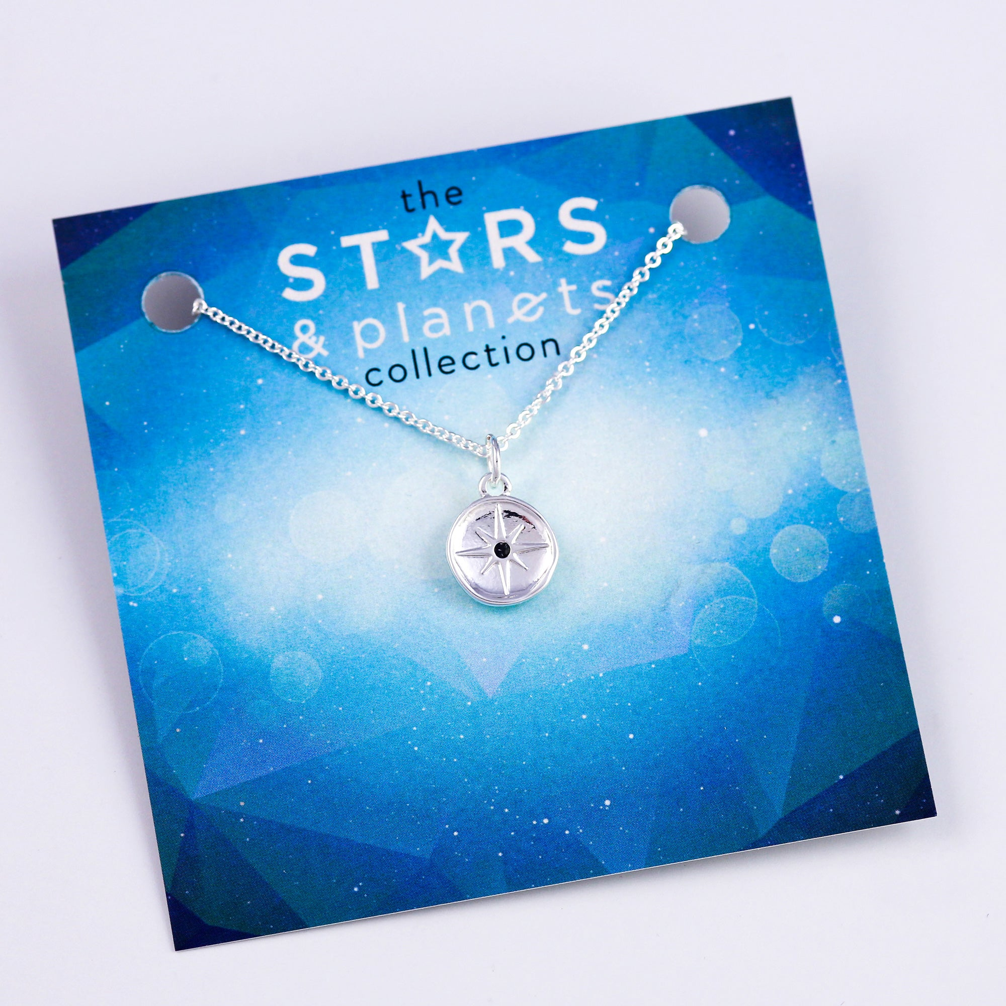 Silver Dark North Star Necklace Stars & Planets Collection