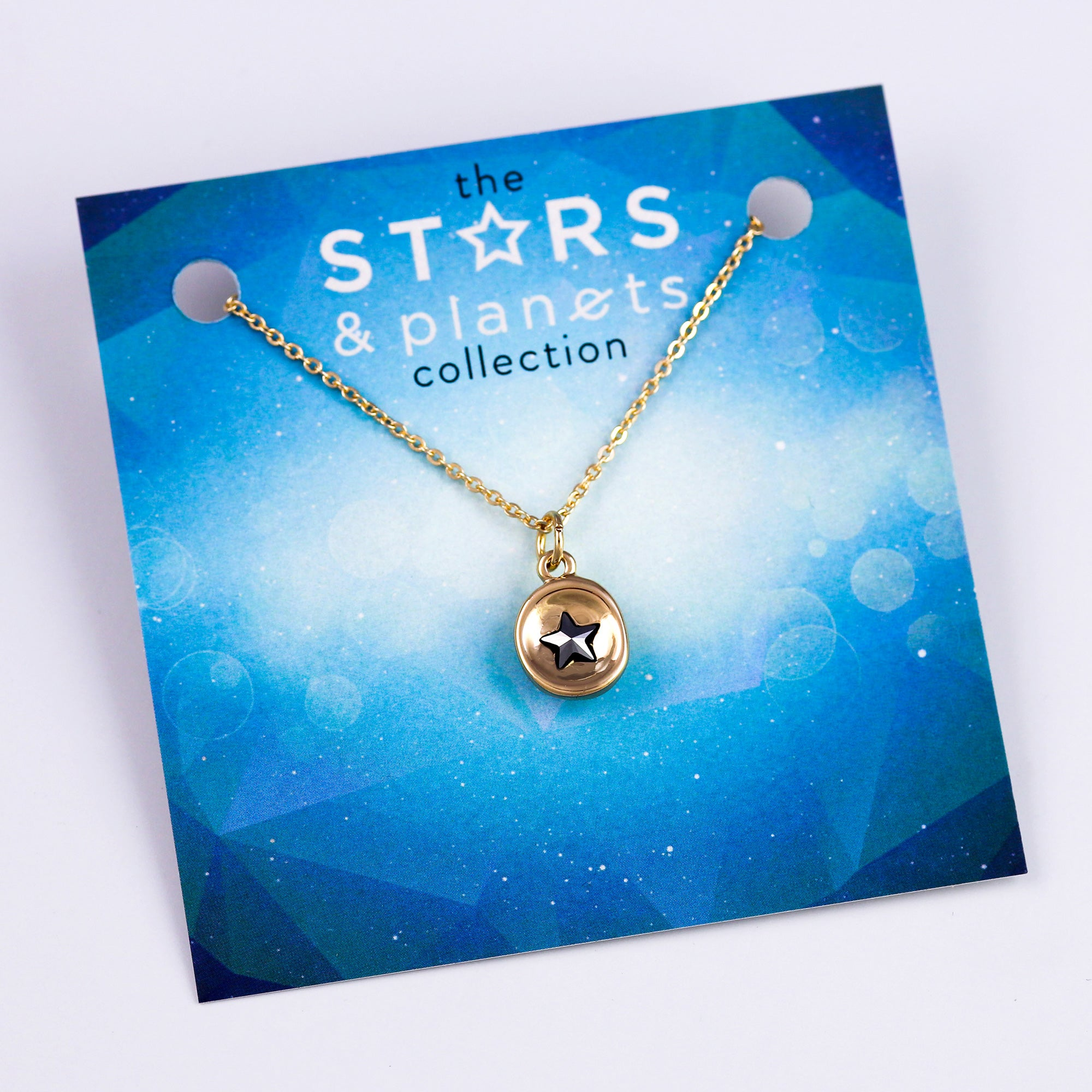 Gold Mini Jet Star Necklace Stars & Planets Collection