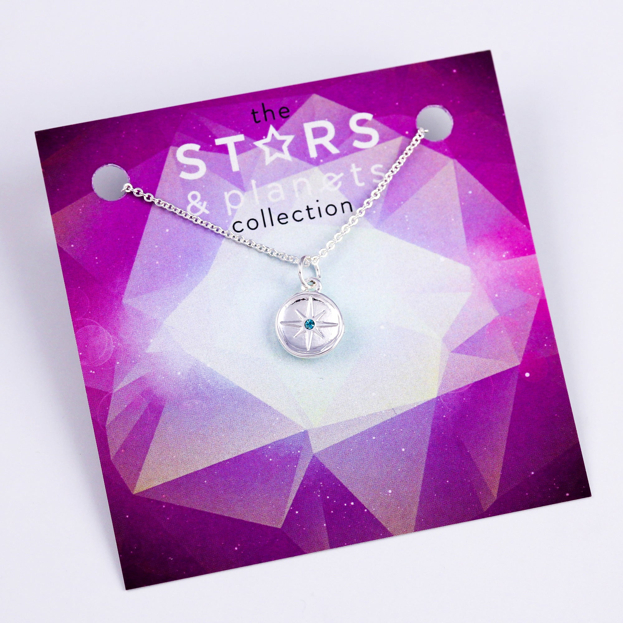 Silver Blue North Star Necklace Stars & Planets Collection