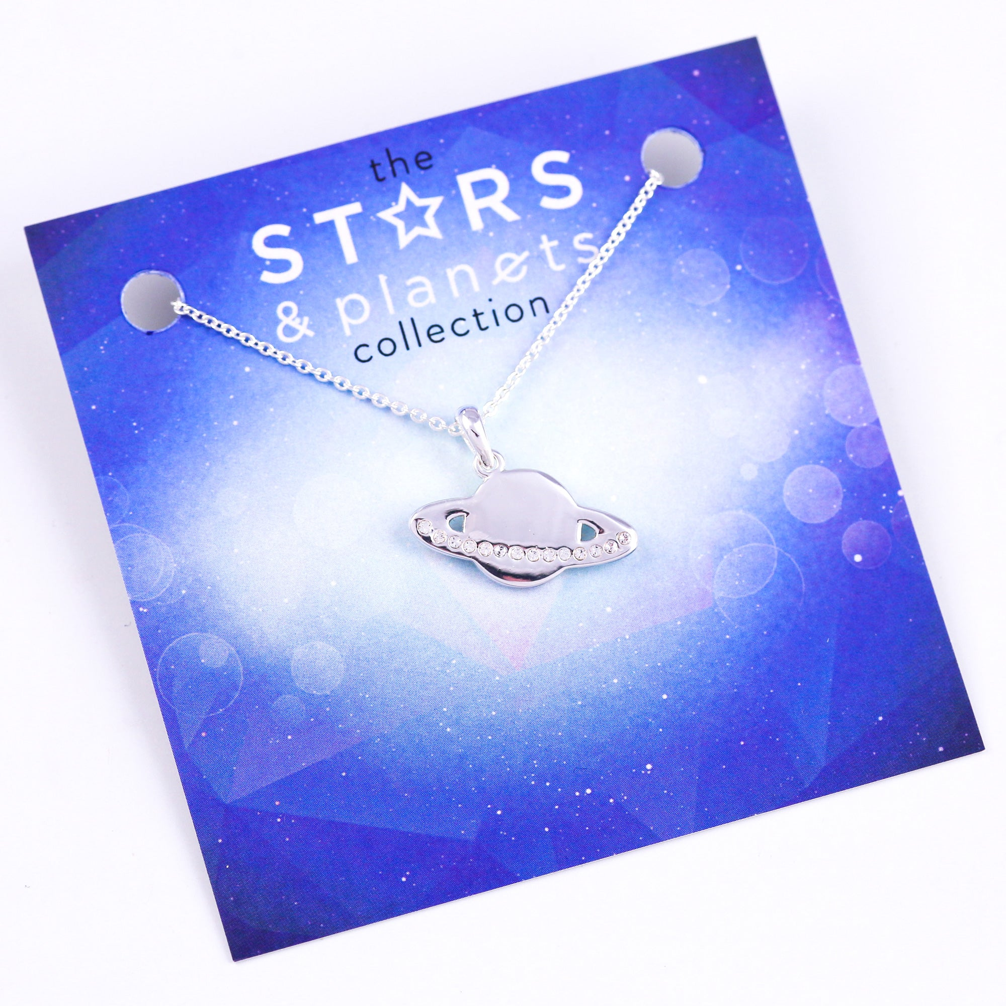 Silver Planet Necklace Stars & Planets Collection