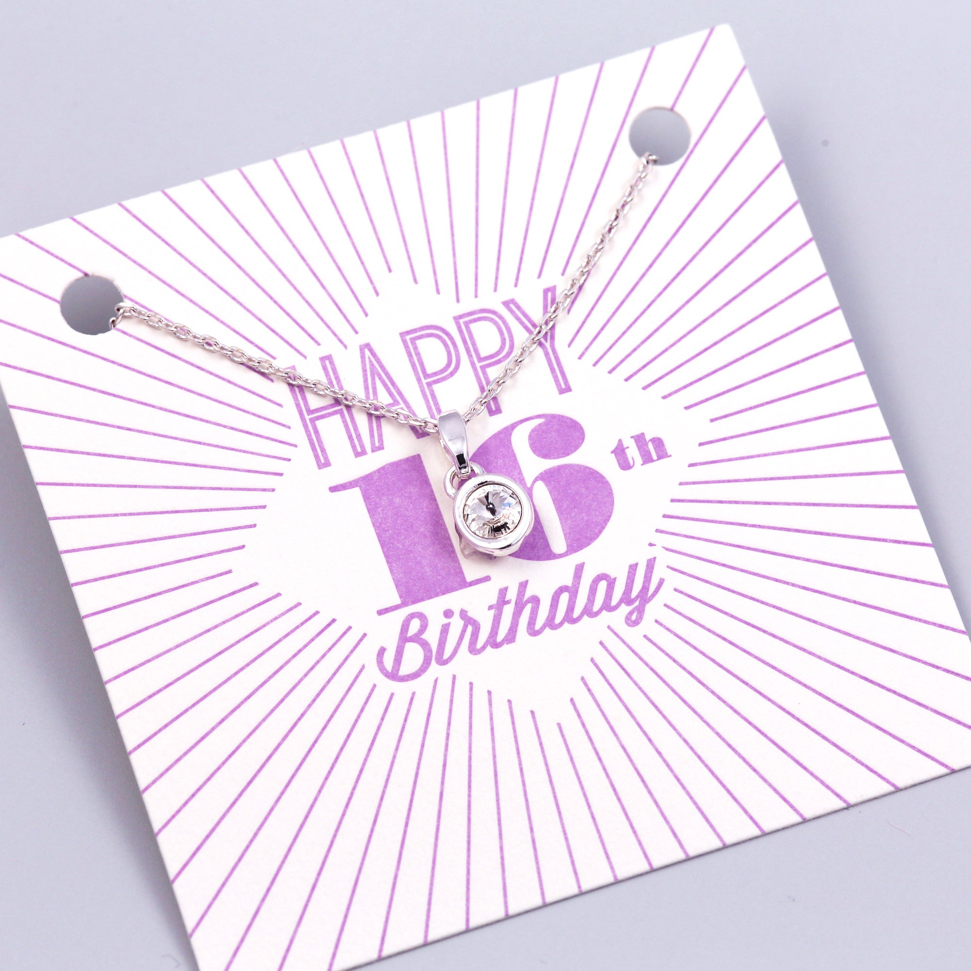 Happy 16th Birthday Gemstone Necklace