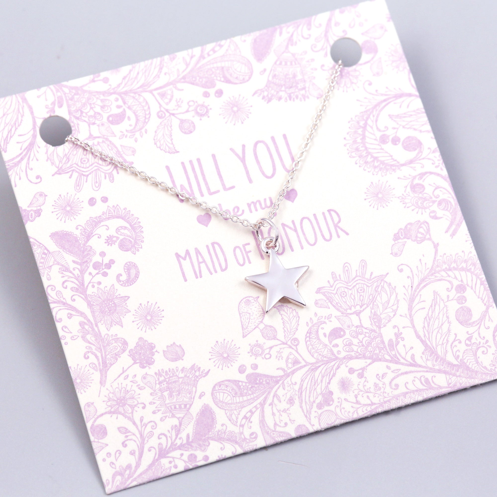 Will You Be My Maid of Honour Star Necklace