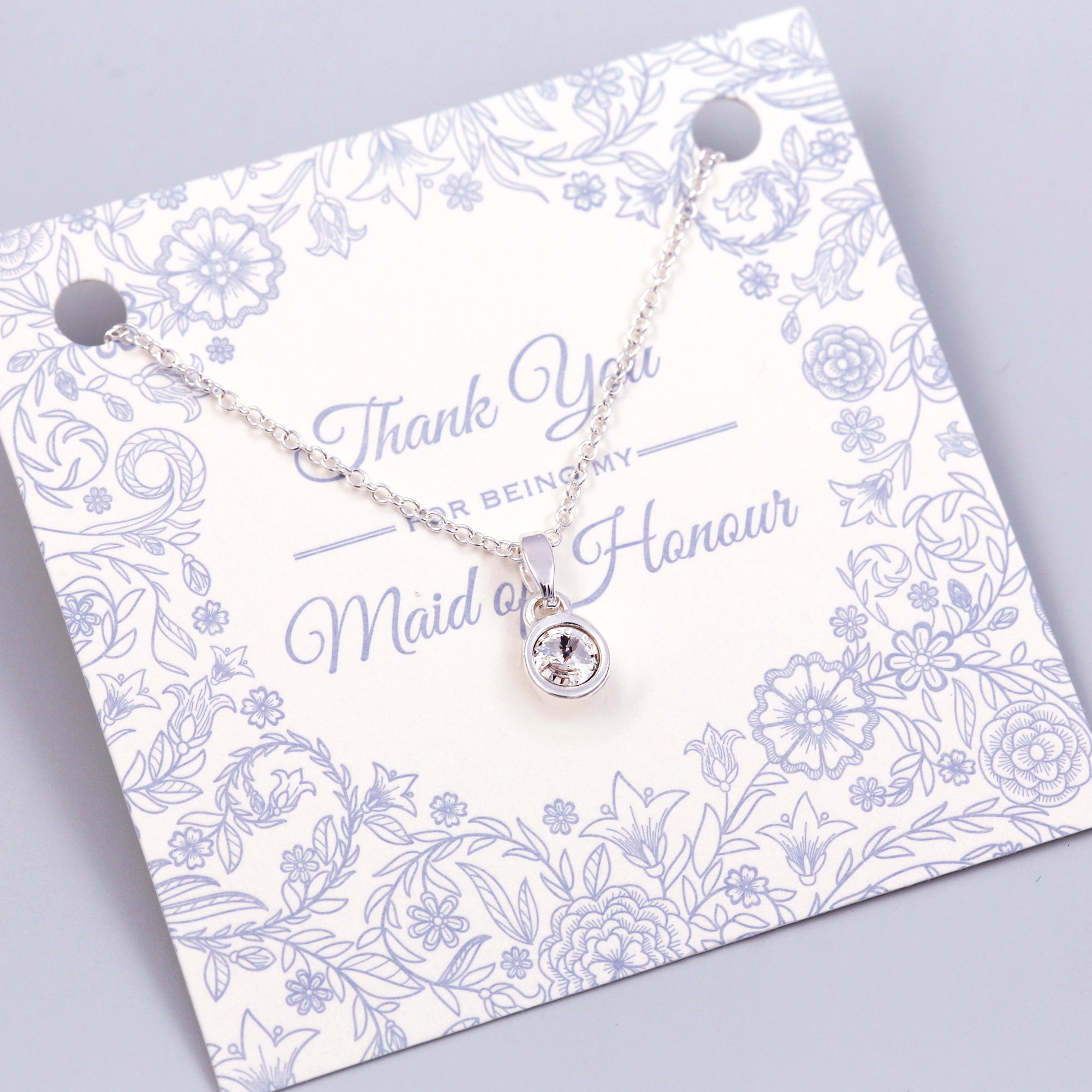 Thank You for Being My Maid of Honour Gemstone Necklace