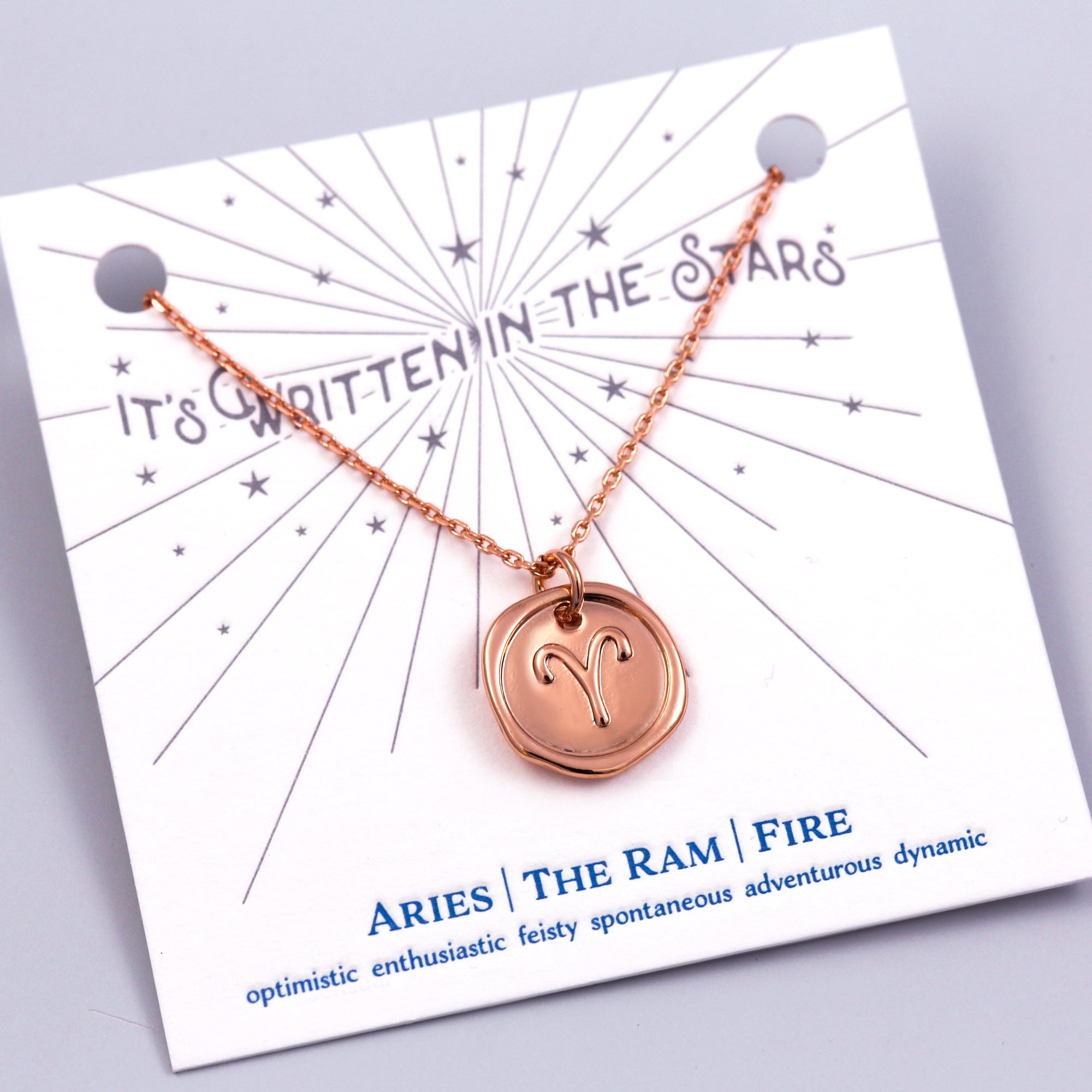 Rose Gold Aries Necklace Its Written in the Stars