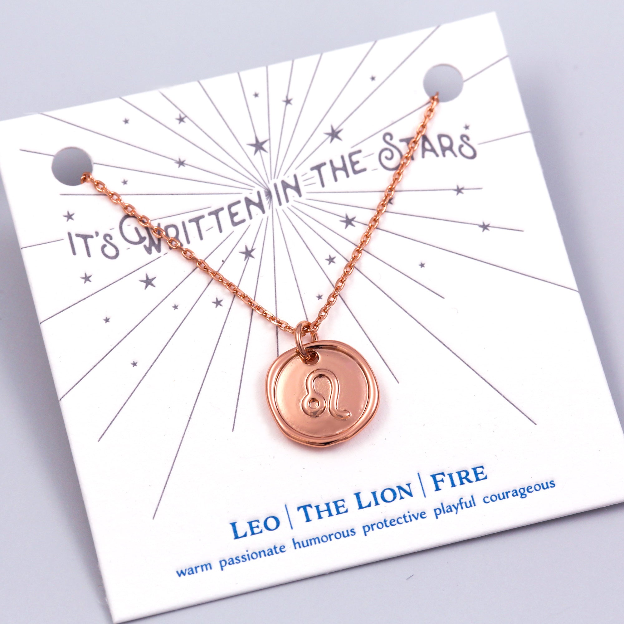 Rose Gold Leo Necklace It's Written in the Stars