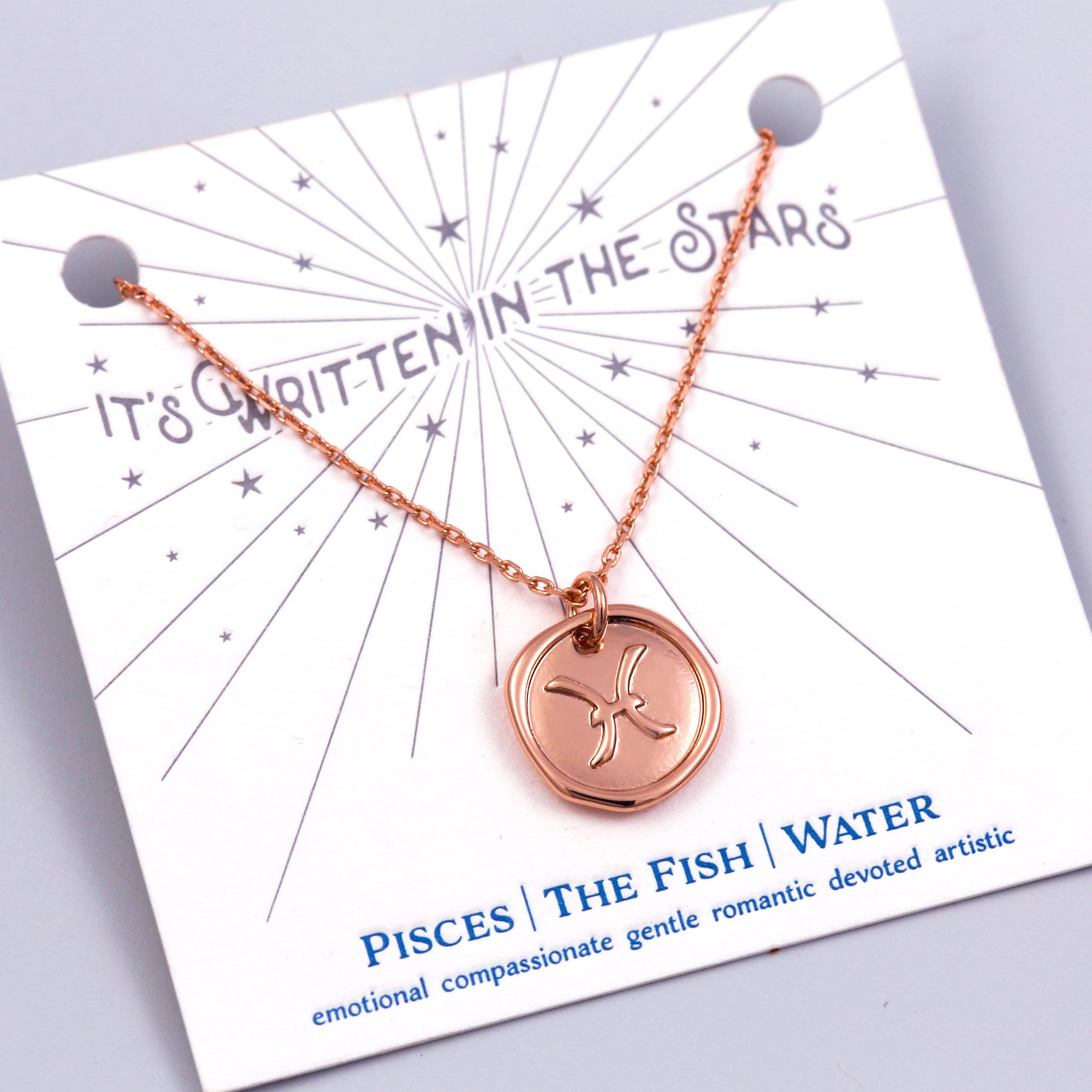 Rose Gold Pisces Necklace It's Written in the Stars