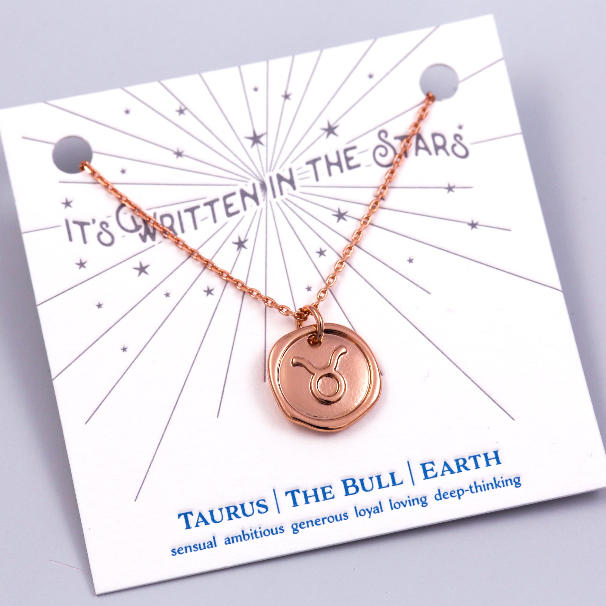 Rose Gold Taurus Necklace It's Written in the Stars