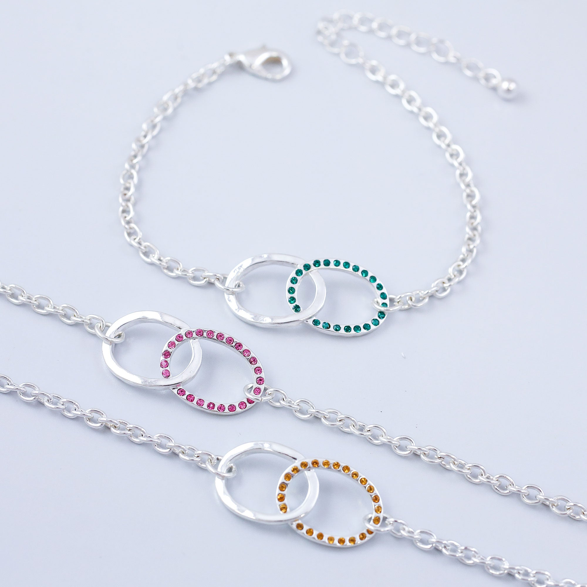 Birthstone Infinity Bracelet Made with Crystals from Swarovski ®