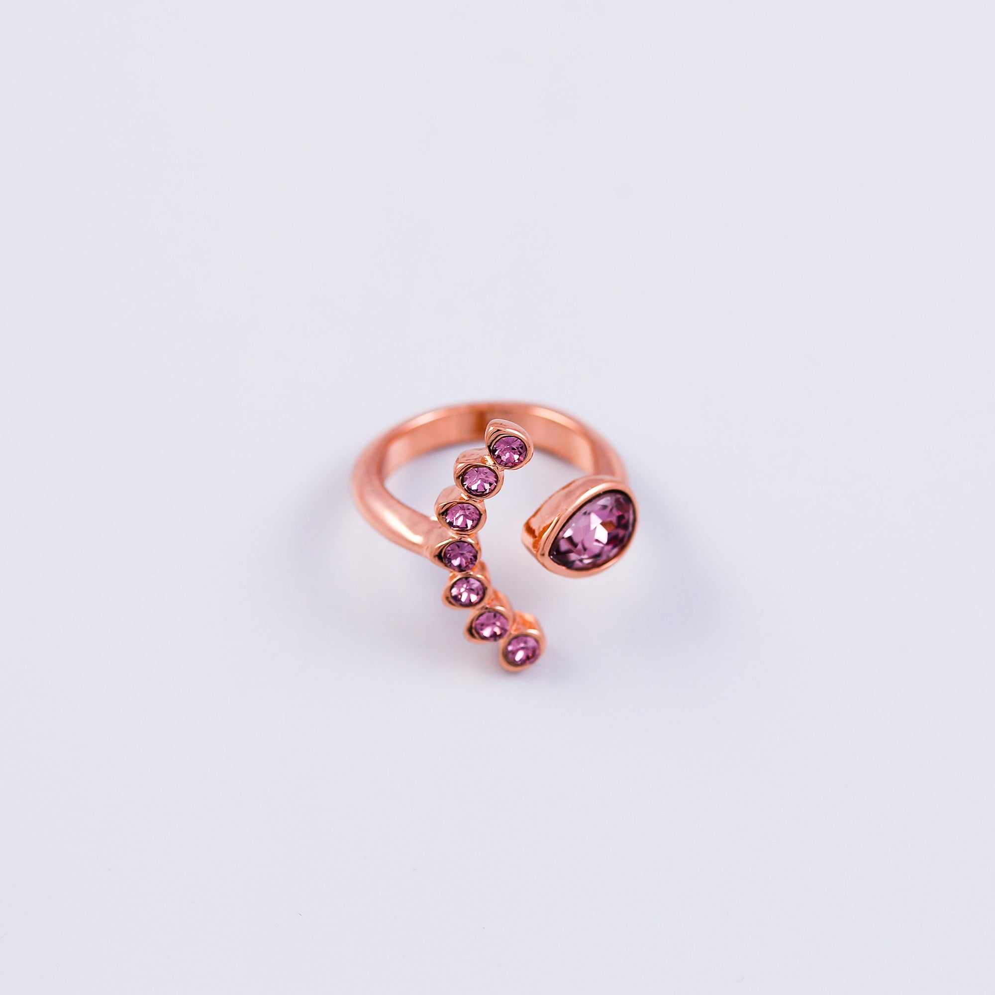 Rose Gold & Antique Pink Four Petal Ring