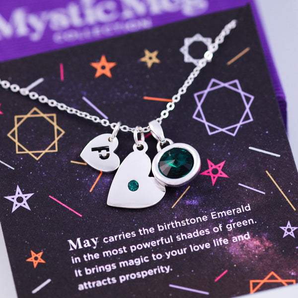 May Birthstone Necklace in Emerald