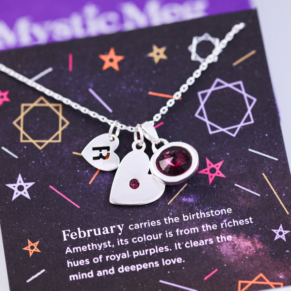 February Birthstone Necklace in Amethyst