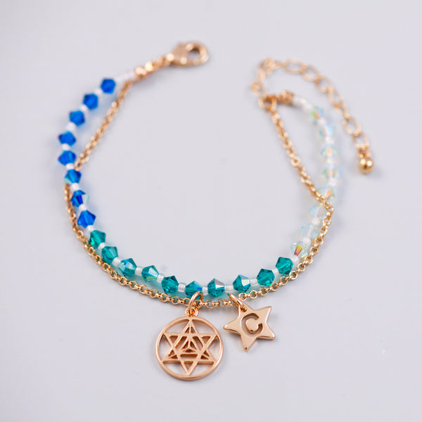 Four Elements Charm Bracelet in Water