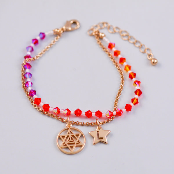 Four Elements Charm Bracelet in Fire