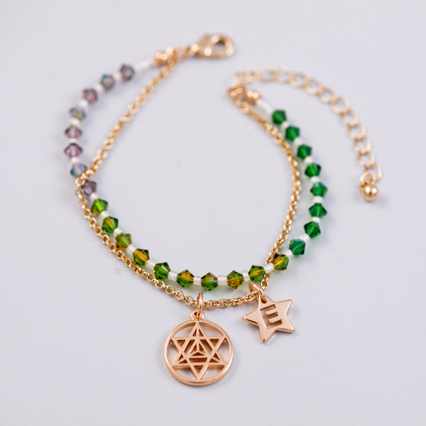 Four Elements Charm Bracelet in Earth