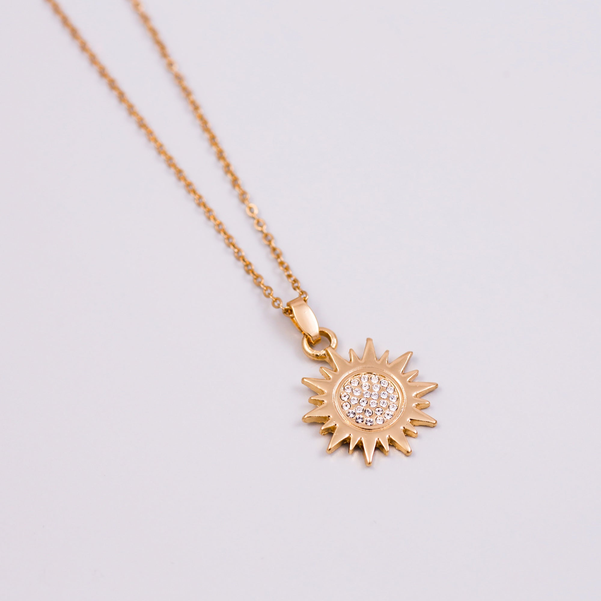 sun enlarged necklace pendant tone necklaces tondo products bvlgari two jewelry