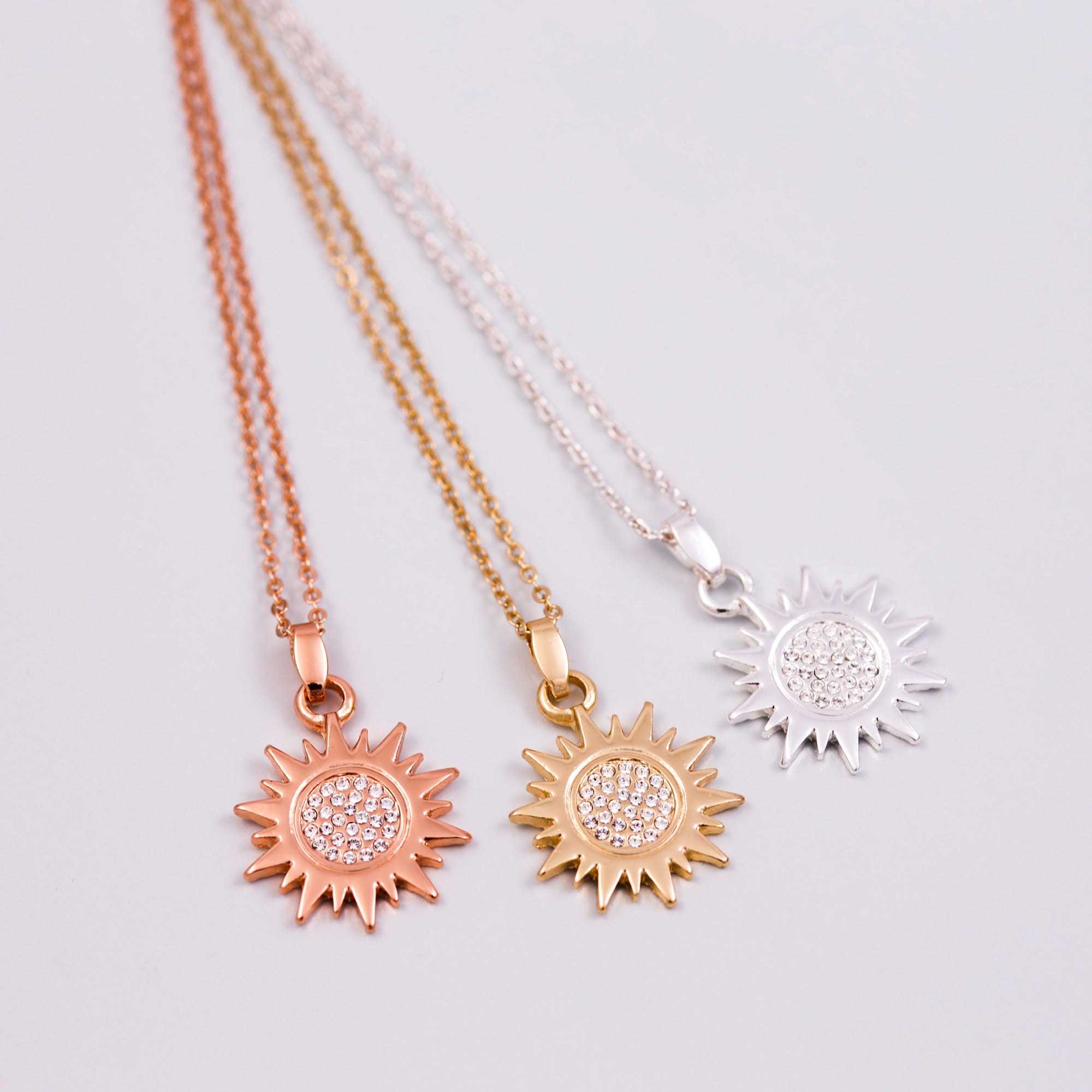 gold sun moon wishes necklacesun chain moongold filled diamond pin pendant necklace opal