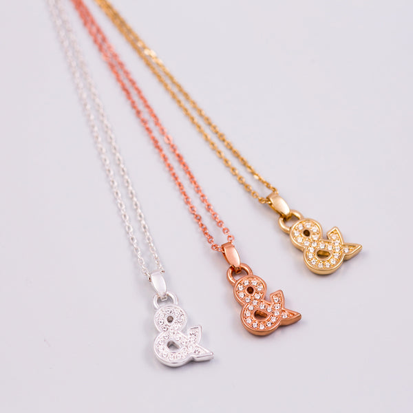 Crystal Ampersand Necklace
