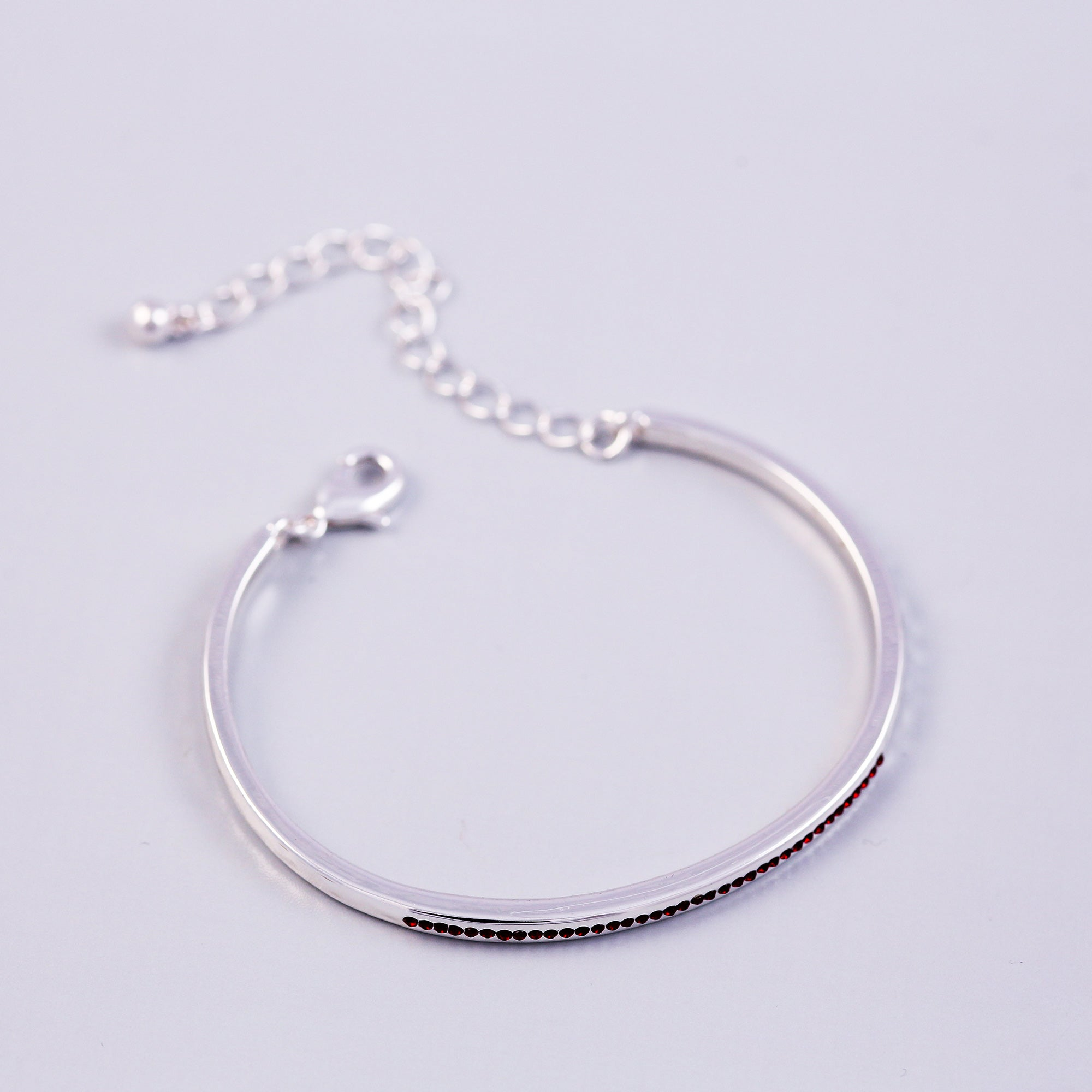 Silver Siam January Birthstone Bangle