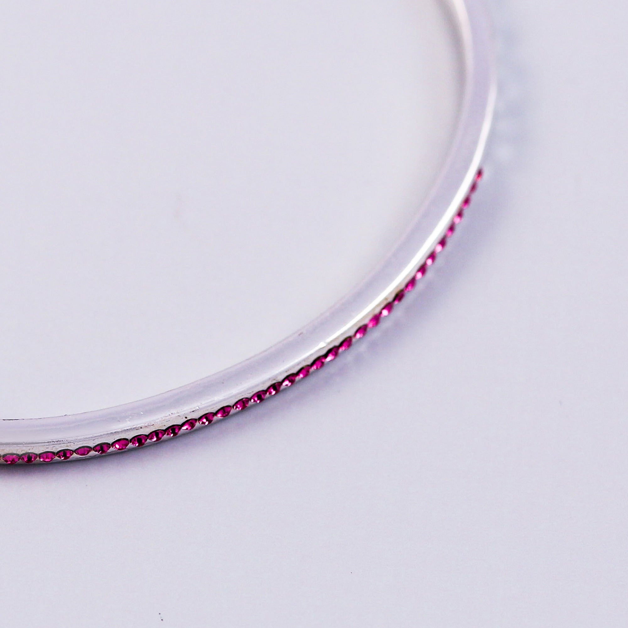 Silver Ruby July Birthstone Bangle