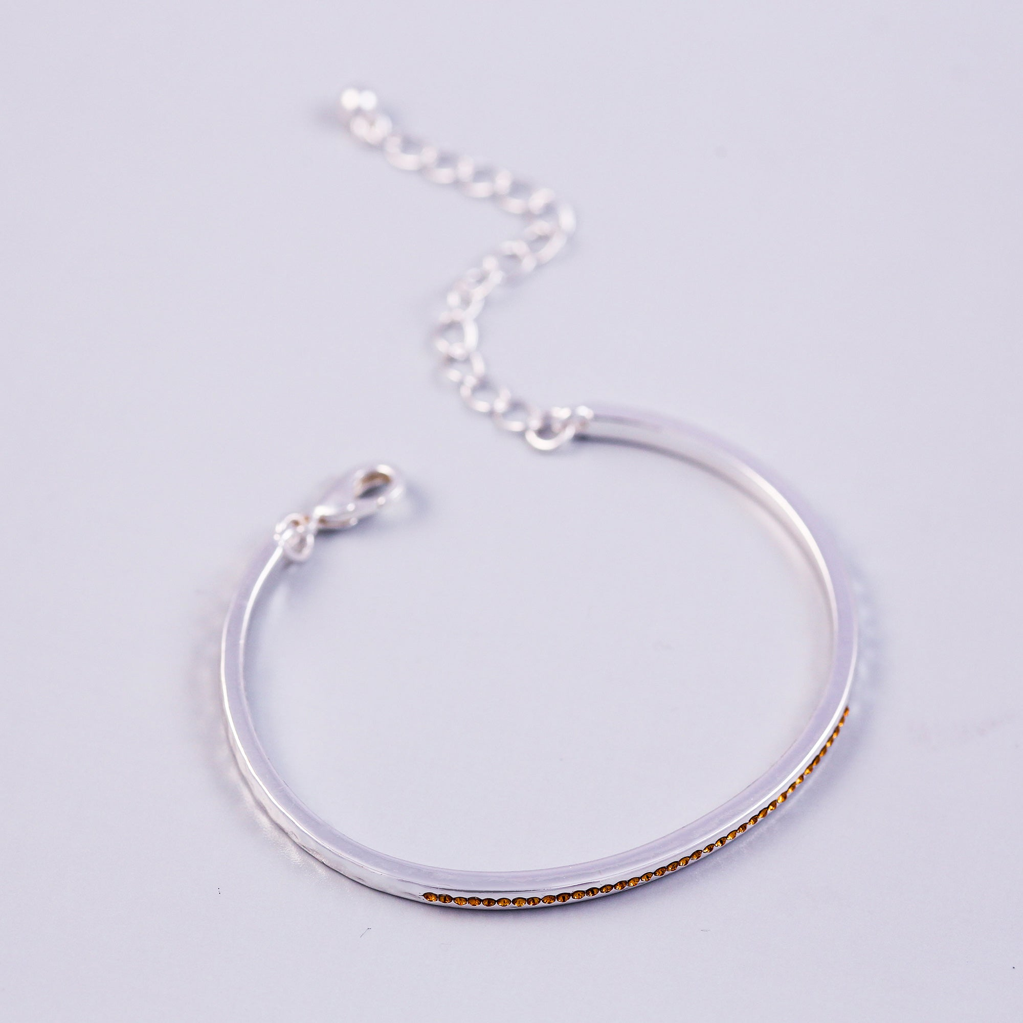 Silver Topaz November Birthstone Bangle