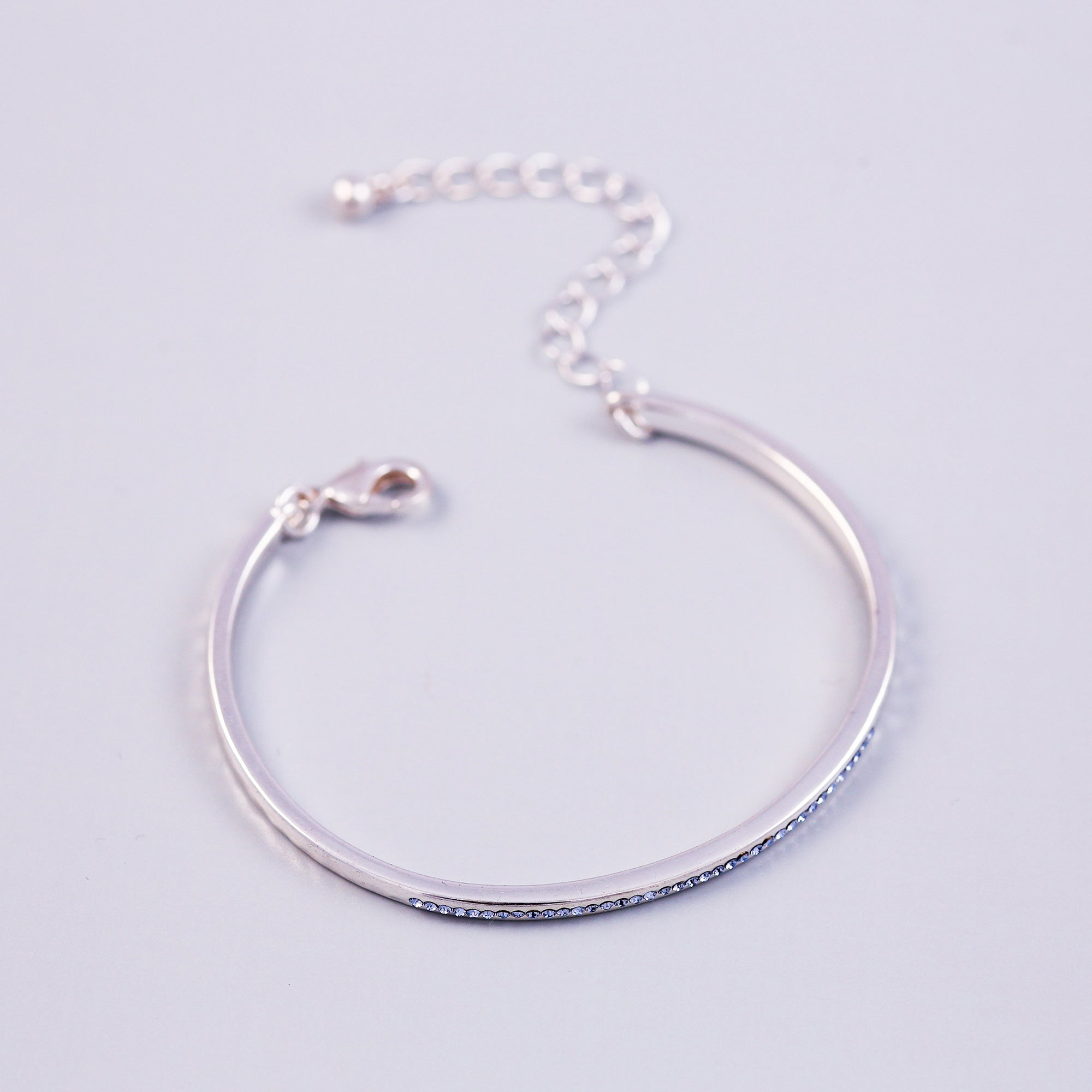 December Birthstone Bangle | Silver Bangle | Birthstone