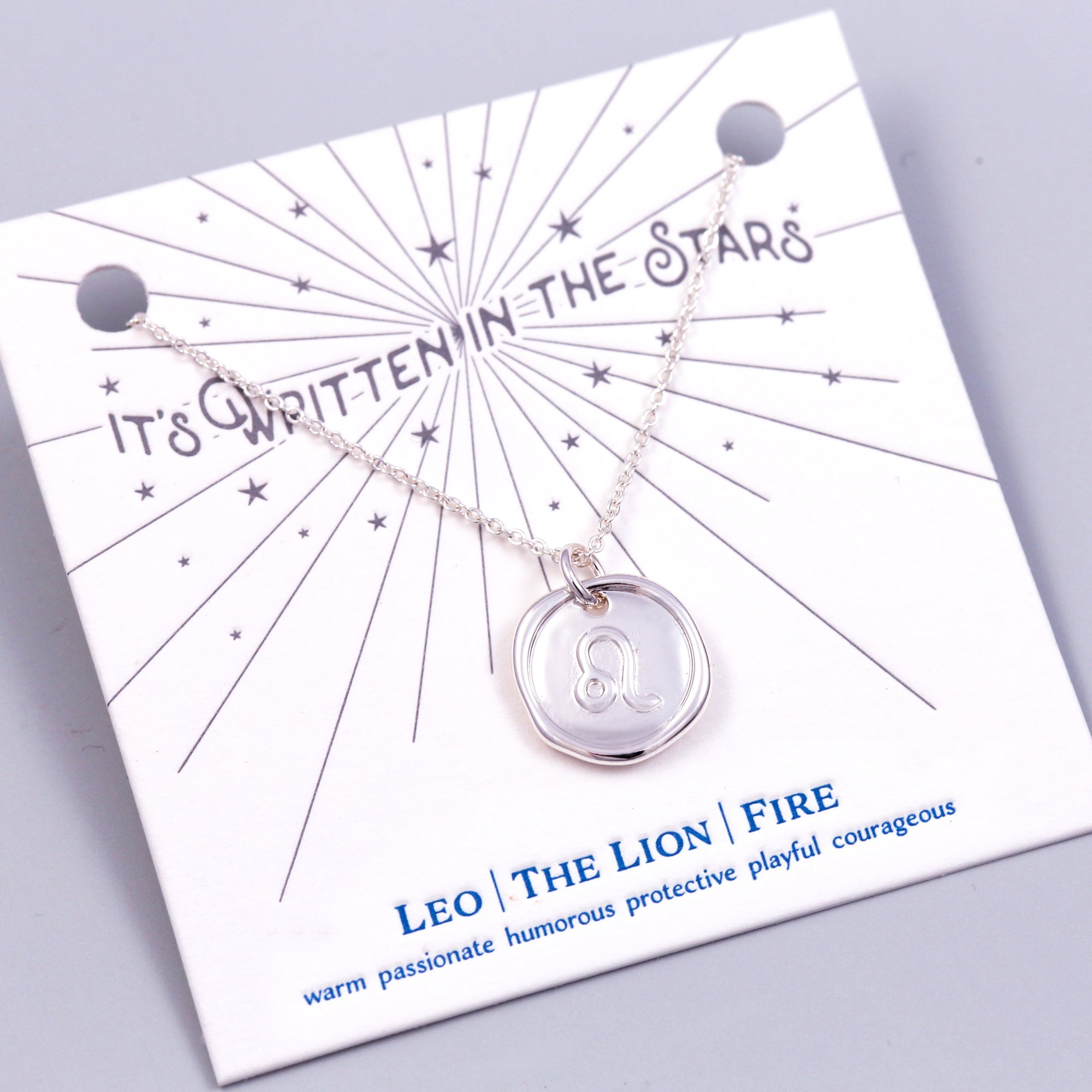 Silver Leo Necklace It's Written in the Stars
