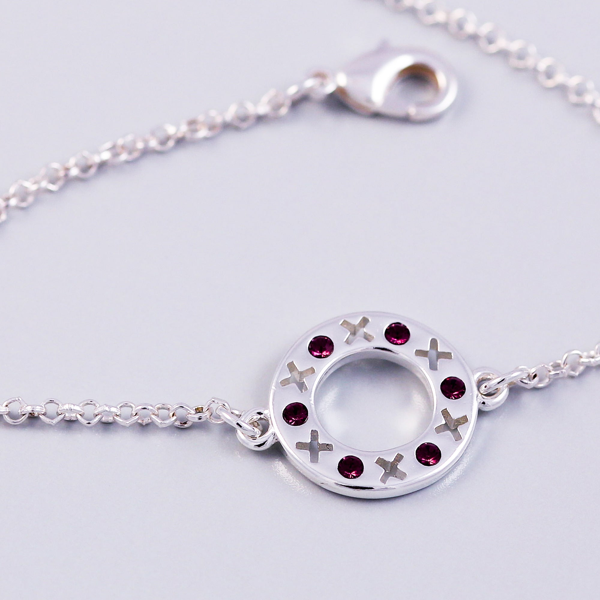 February Birthstone Bracelet | Circle XOXO | Birthstone