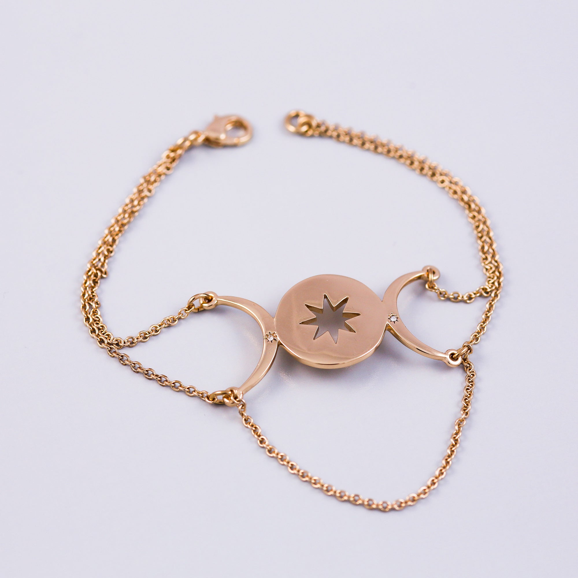 Gold | Star Bracelet | Triple Moon Goddess