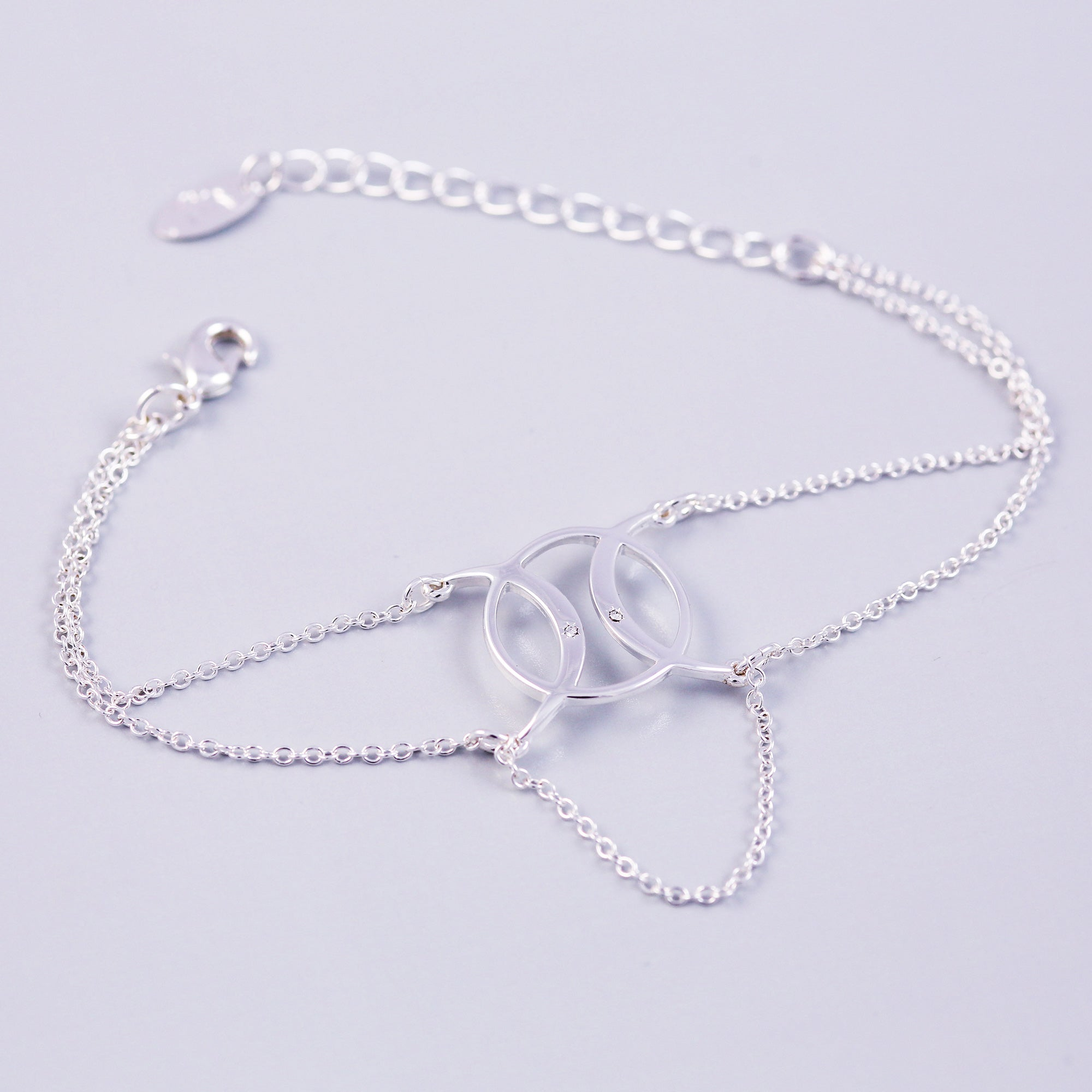 Silver | Circle Symbol Bracelet | Triple Moon Goddess |