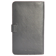 W456 travel wallet in black rear view