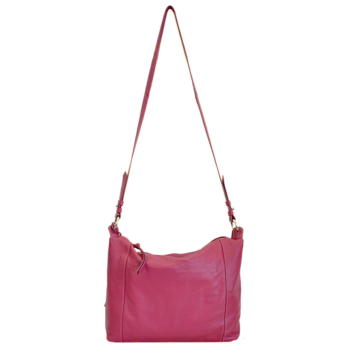 559 Soft Slouch Sling Bag - Berry