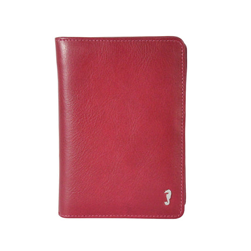 Annie Bifold Wallet in Berry red Front