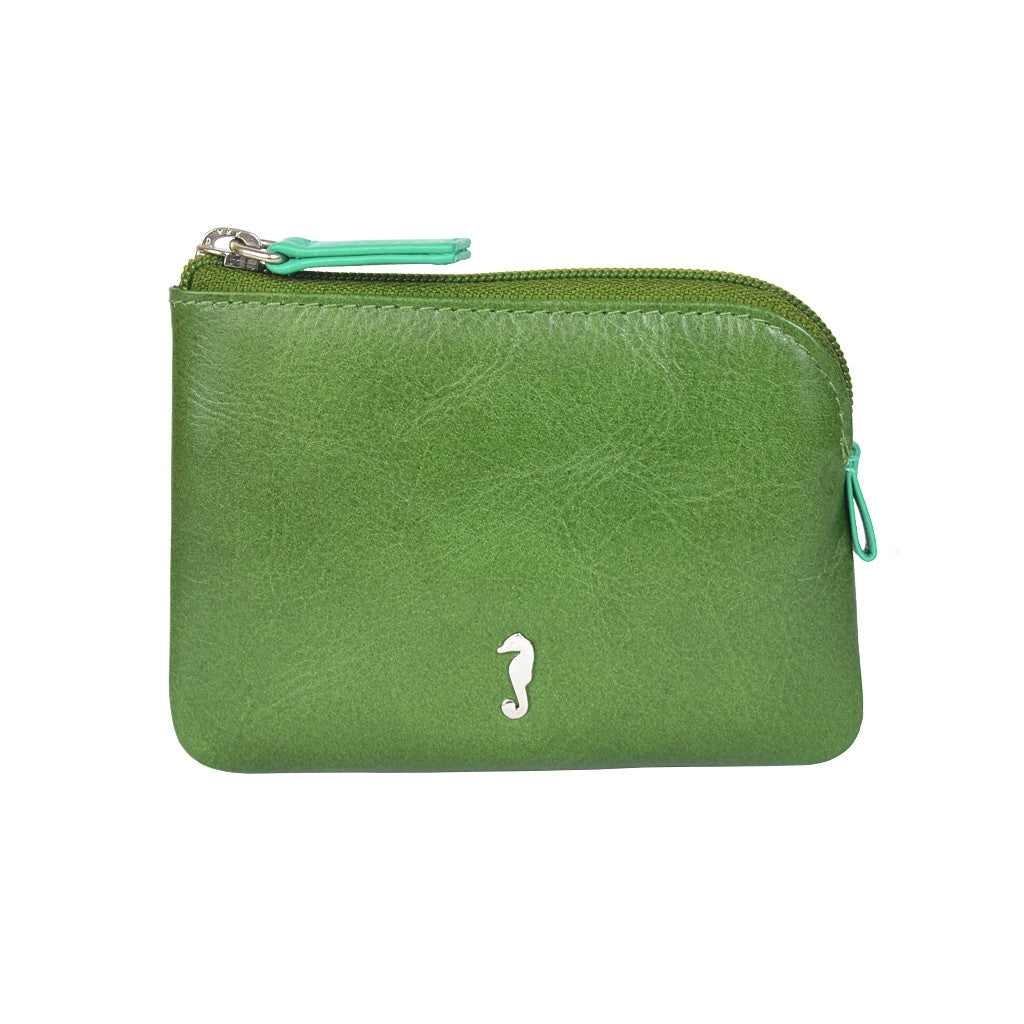 Holi Coin Purse Dark Green Front View