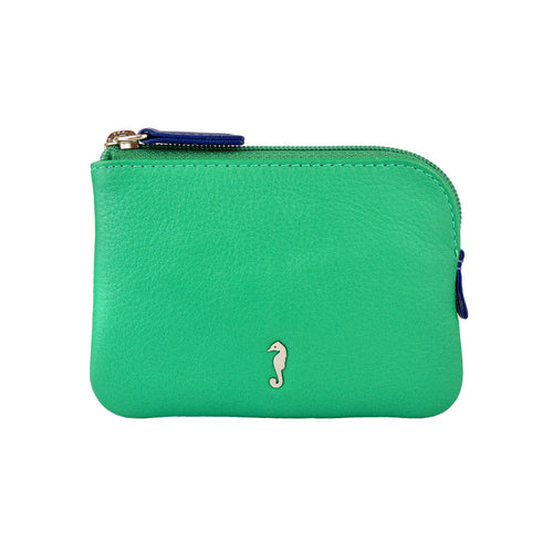 Holi Coin Purse Jade Green Front View