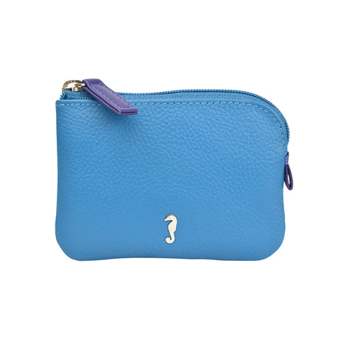 Holi Coin Purse Opal Blue Front View