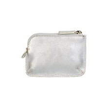 Holi Coin Purse Metallic Silver Rear View