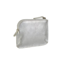 Holi Coin Purse Metallic Silver Side View