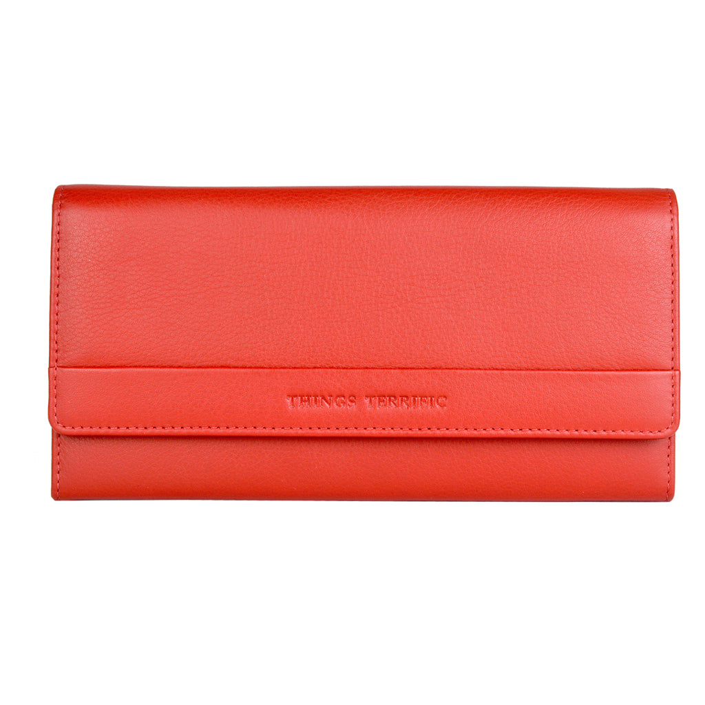 Lilly Clutch Wallet Red Front View