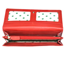 Lilly Clutch Wallet Red Full Open View