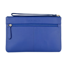 Mlly Clutch with Strap in Summer Blue Rear View