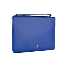 Mlly Clutch with Strap in Summer Blue Side View