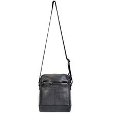 noah sling bag in black front full view