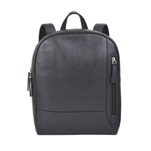 olivia backpack in black front view