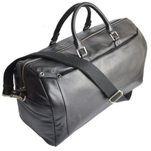 pacific travel bag in black side on view