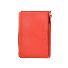 rosie soft fold wallet in red rear view