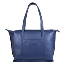 sophia tote in crepe blue rear view