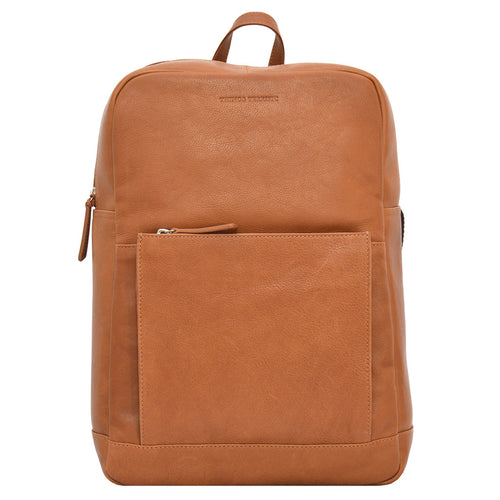 Brooklyn Backpack in Tan Front View